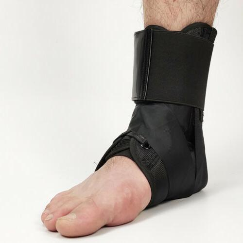 Lace Up Ankle Foot Brace Sprain Stabilizer Orthosis Support