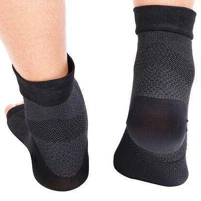 2 Ankle Support Compression Sleeve Wrap Plantar