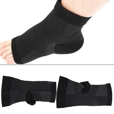 2 Ankle Compression Sleeve Wrap Foot Plantar Fasciitis Pain