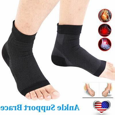 2xankle brace support compression sleeve plantar fasciitis