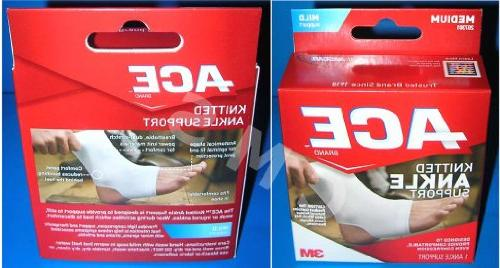 ace cotton ankle support brace