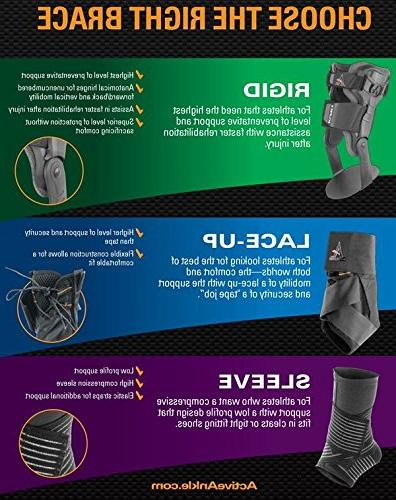 Active Ankle Lace Up Ankle Ankle for Protection & Volleyball, Basketball, Braces with Compression or White,
