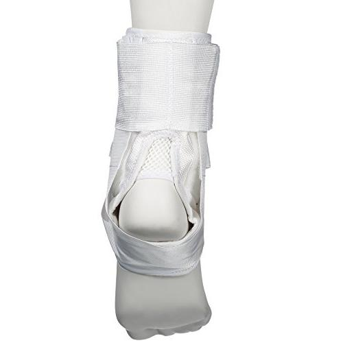 Active Lace Ankle Brace, Ankle Stabilizer for Protection & Support for Volleyball, with Wear Compression Socks or White, Large