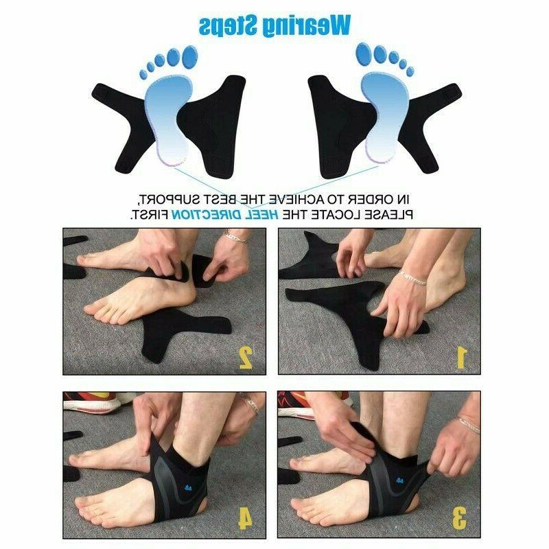 ADJUSTABLE ELASTIC SLEEVE Elastic Brace Guard Foot Support Sports Ge