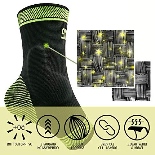 Protle Ankle Sleeve Silicone Arch - Recovery from Pain, Sprain, Plantar