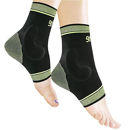 Protle Adjustable Ankle Sleeve Gel, Arch Support - Boosts Recovery from Sprain,