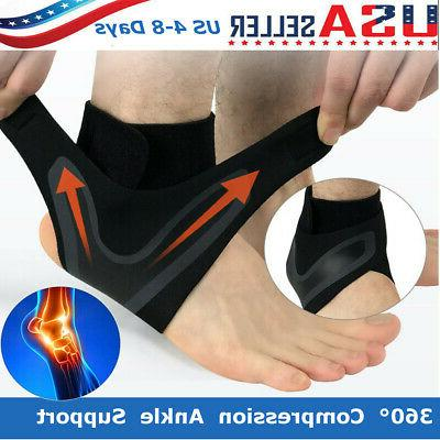 adjustable sports compression elastic ankle brace support