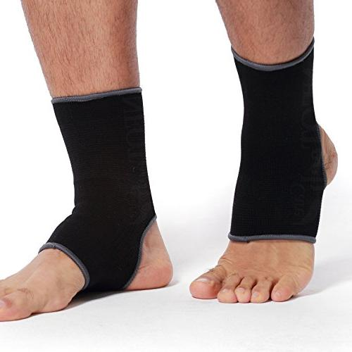 Neotech Care Ankle Sleeve Light, Elastic & Knitted Fabric Medium Women, or Left Foot Black