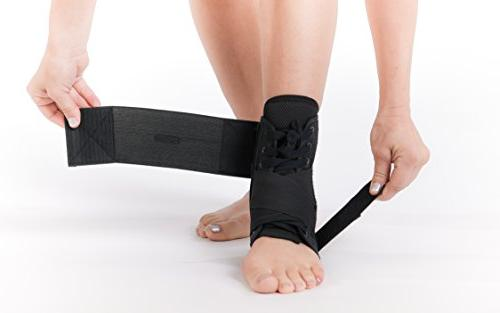 SENTEQ Brace with Stabilizer Strap Grade & FDA Best Ankle Heel Fatigue