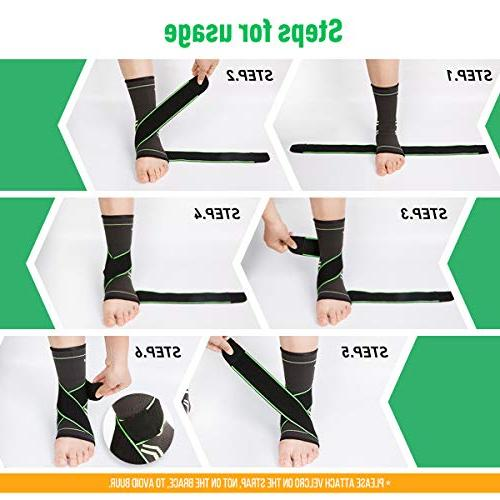 Ankle Compression Sleeve Ankle Socks - - Green