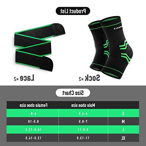 Ankle Compression Sleeve Ankle - Breathable & - Green