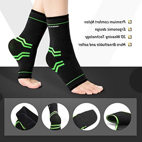 Ankle Sleeve Ankle Socks with Adjustable - - Green