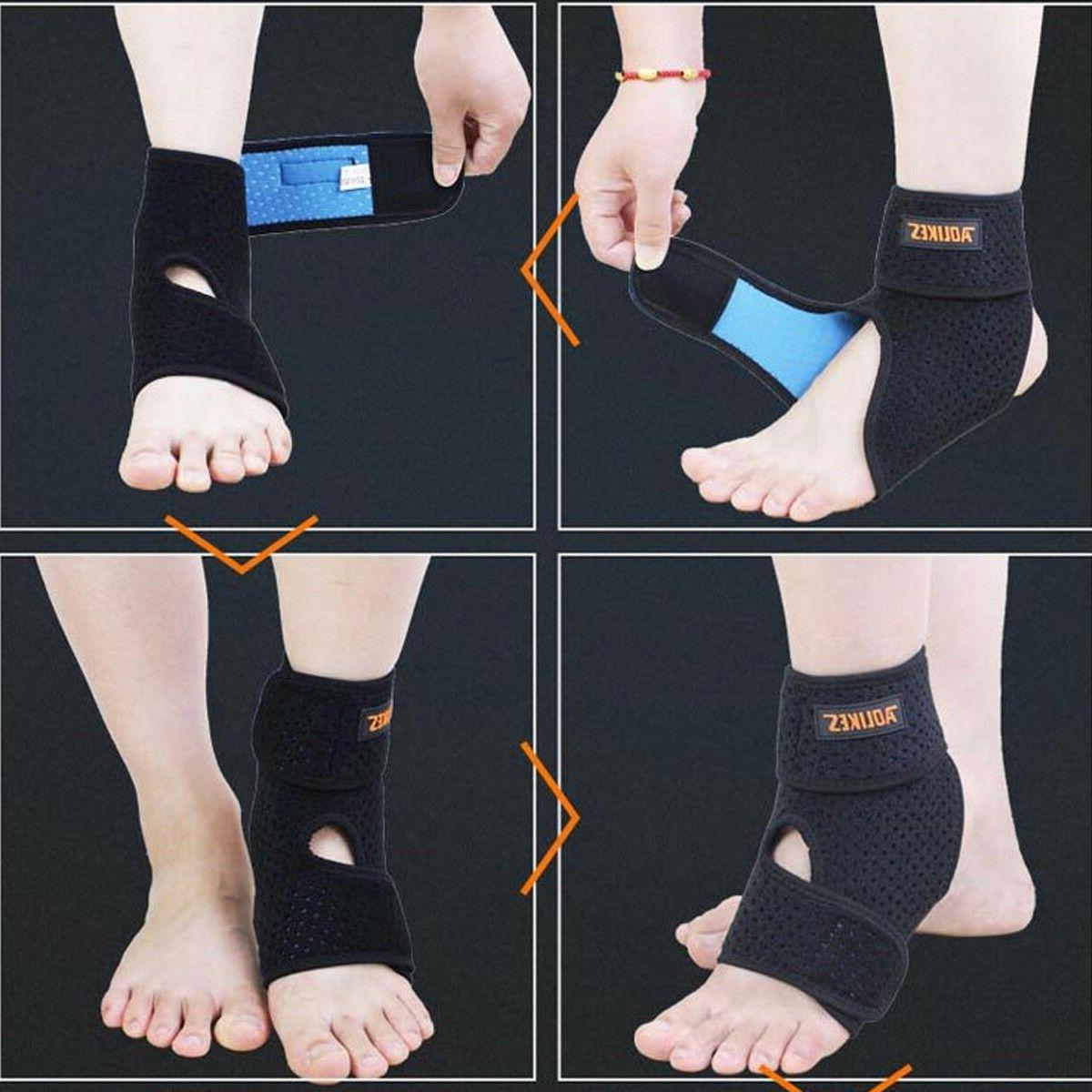 Ankle Brace & Tendon Wrap Adjustable Neoprene Tendinitis