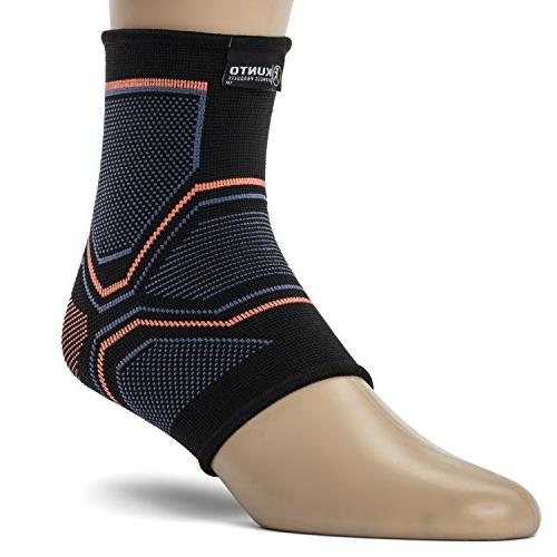 Kunto Fitness Ankle Compression Support Injury Swelling, Achilles Tendon Arch Socks for any Activity!
