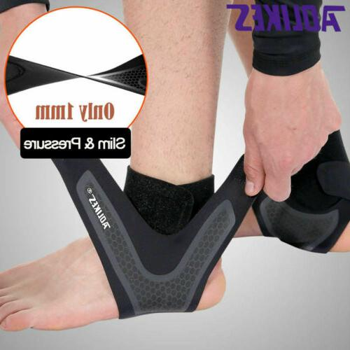 Slim Men's Ankle Brace Foot Bandage Sleeve Wrap Support Comp