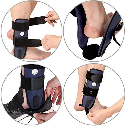 Velpeau Ankle Stirrup Splint Adjustable Stabilizer for Sprains, Strains, Support Injury Protection