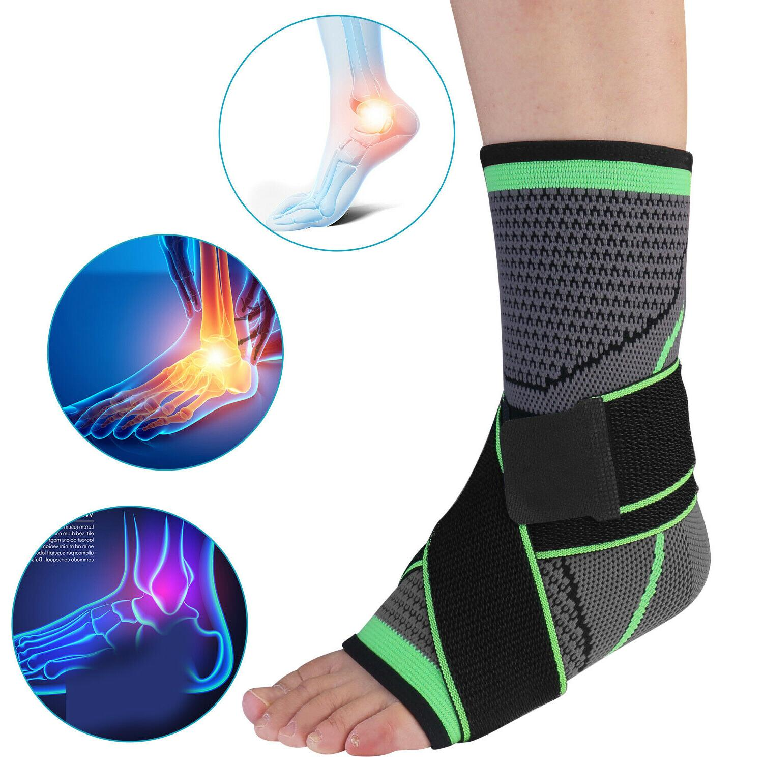 ankle brace support compression sleeve wrap foot