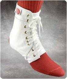 Swede-O Ankle Lok Support with Knit Tongue. Color: White, Si