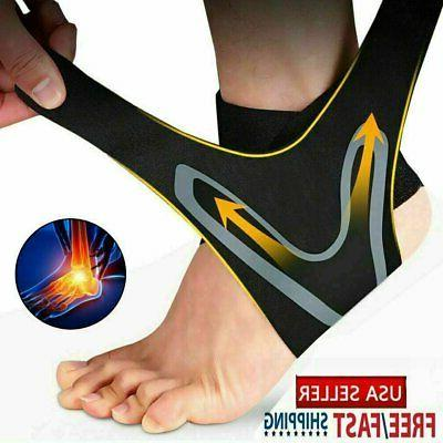 ankle sport foot wrap support brace compression