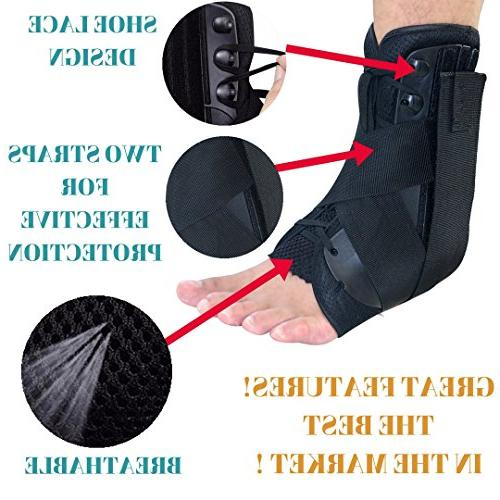 MEDIZED Stabilizer Support Safety Foot Stirrup Compression Speed Lacer Soccer Baseball Netball Volleyball