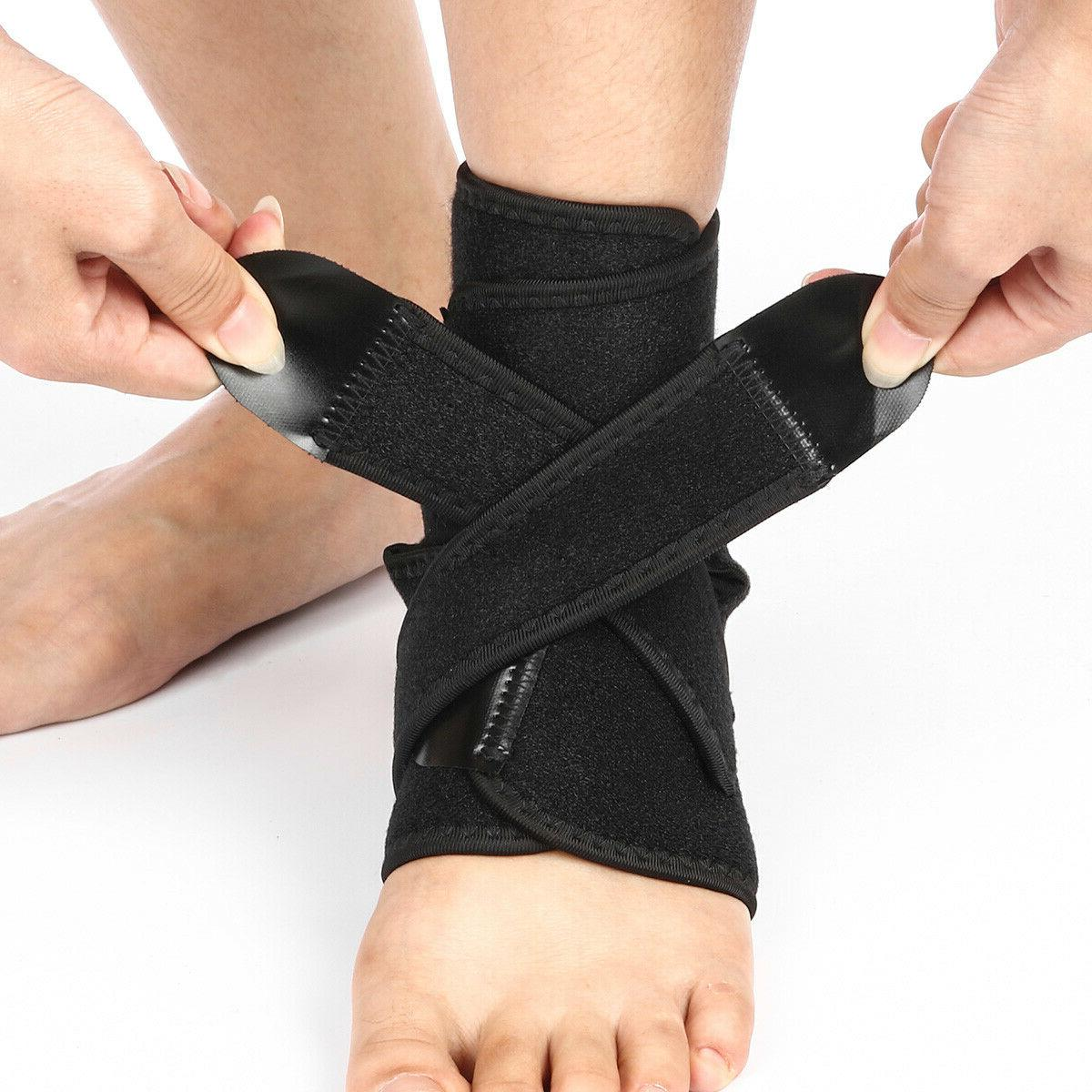 Ankle Support Brace Breathable Neoprene Sleeve Adjustable Wr
