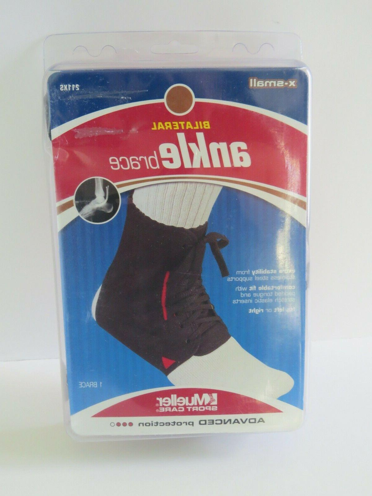 bilateral ankle brace 211xs extra small opened