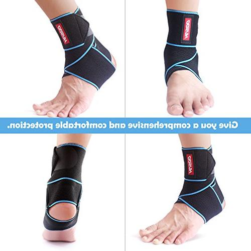 Ankle Ankle Support with Fabric, Compression Wrap for Sprain, Plantar Injury Recovery, One All