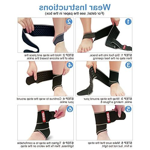 Ankle Brace, Husoo Fabric, for Sports Ankle Sprain, Plantar Recovery, One Size All