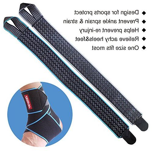 Ankle Brace, Breathable Ankle Support Fabric, Ankle Wrap for Sprain, Plantar Fasciitis, Recovery, Fits All