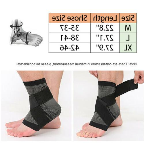Ankle Brace Compression Sleeve Relief Foot Wrap