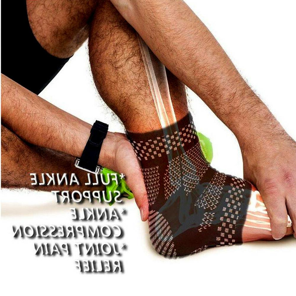 Copper Ankle Arthritis Compression Sleeve Pain Relief Sprain