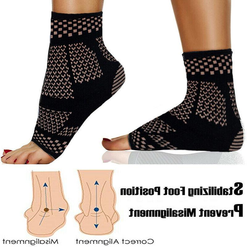 Copper Ankle Support Arthritis Sleeve Pain