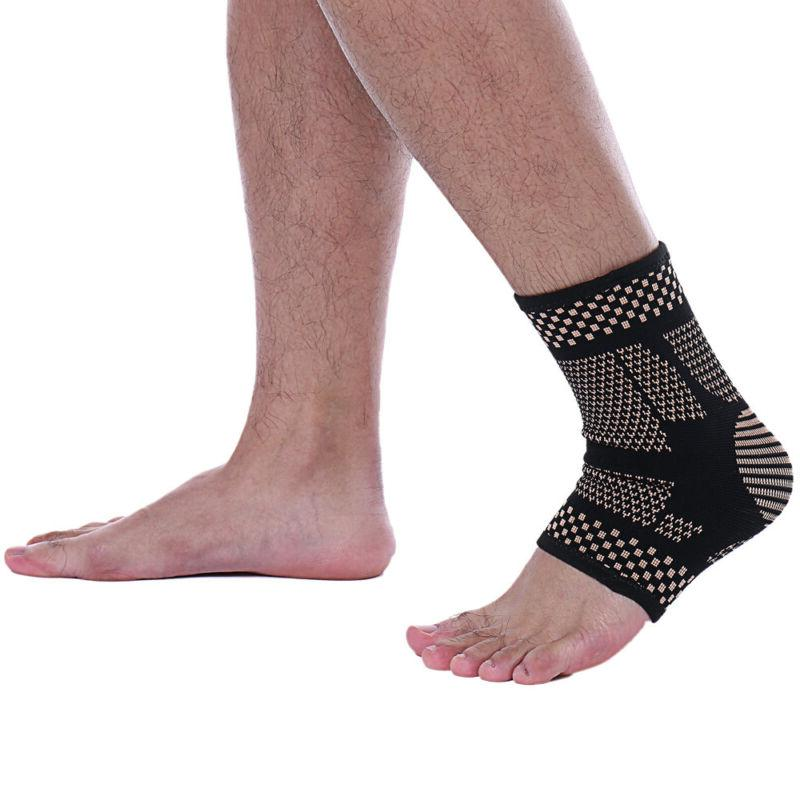 Copper Ankle Compression Sleeve Foot Sports Arthritis