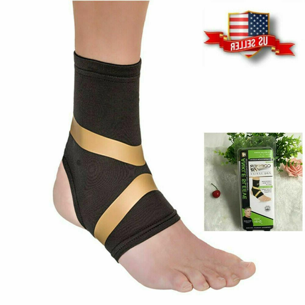 Copper Fit Pro Compression Ankle Sleeve Support Arthritis Re