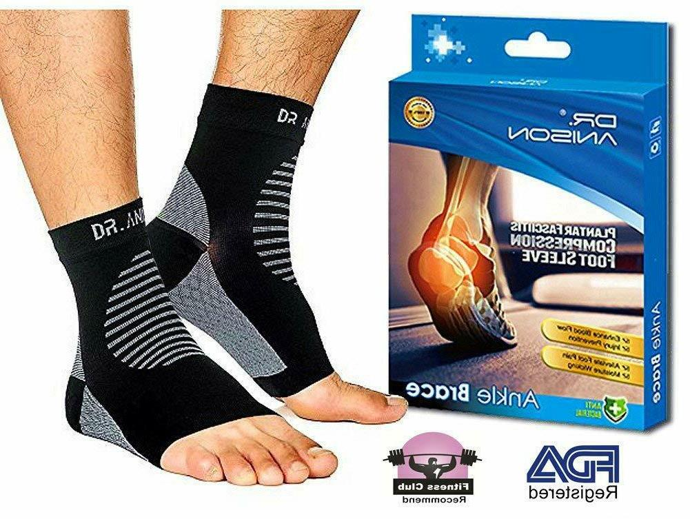 dr anison ankle brace sleeve support plantar