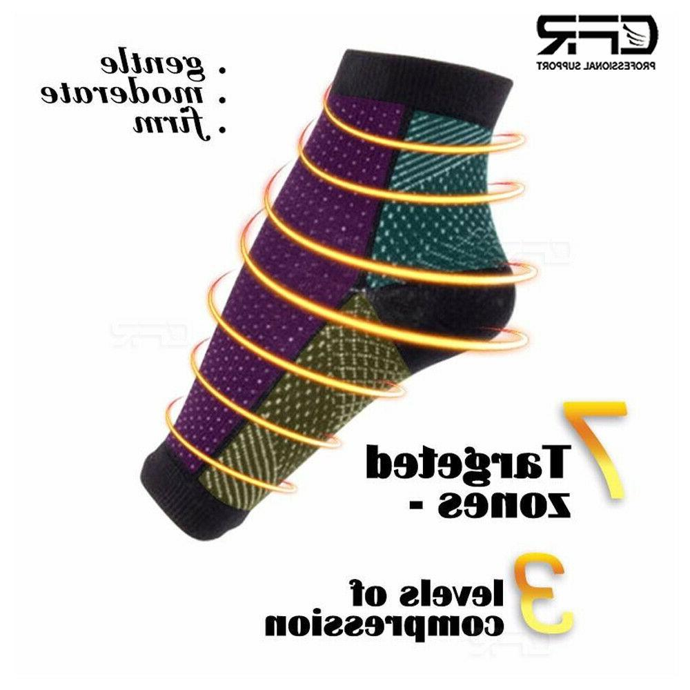 Foot Plantar Arch Support Compression Socks Ankle Heel