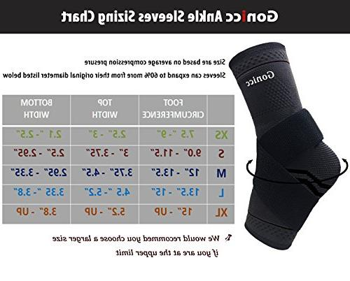 Pair with Support, Stabiling Ligaments, Prevent Re-Injury, Circulation, Soothe Achy Feet, Ankle Brace