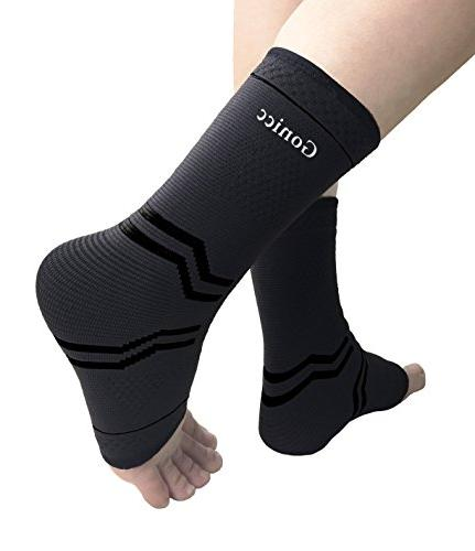 gonicc Professional Foot Pair with Compression Wrap Support, Stabiling Prevent Re-Injury, Soothe Achy Ankle Brace