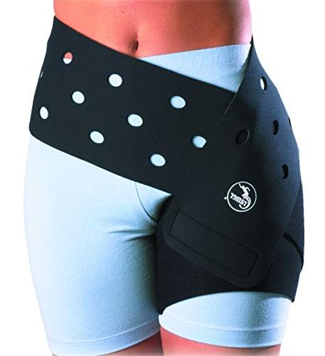 Cramer Groin Hip Spica Support For Groin Strain, Sporting Spica Wrap, Compression Wrap, Recovery, Black