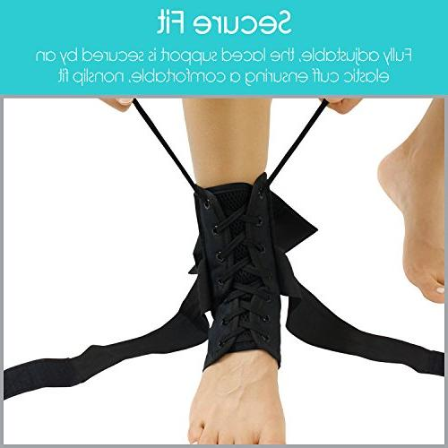 Vive Up Brace Foot Support Sleeve Leg Splint - Rolled Immobilizer for Running, Volleyball, Basketball, Soccer