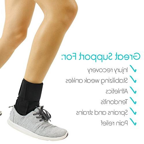 Vive Lace Up Foot Support Sleeve - Leg - Rolled Immobilizer for Running, Volleyball, Soccer