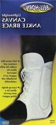 Lightweight Lace-up Ankle Brace in White Size: Large