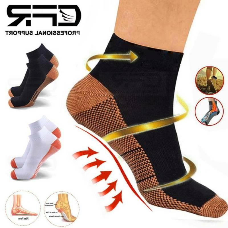 magnetic copper compression fit relief ankle support