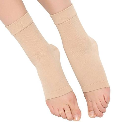 Spotbrace Medical Ankle Brace, Elastic Ankle Pain Ankle Sleeve Ankle Swelling, Plantar Fasciitis and Sprained