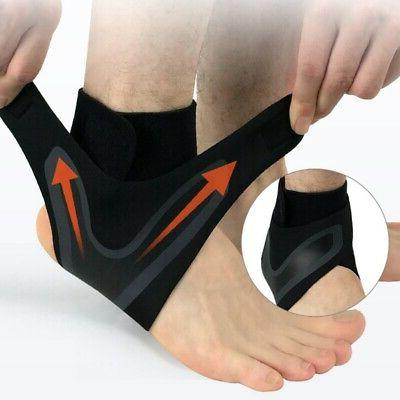US Adjustable Ankle Support Brace Foot Sprains Injury Pain W