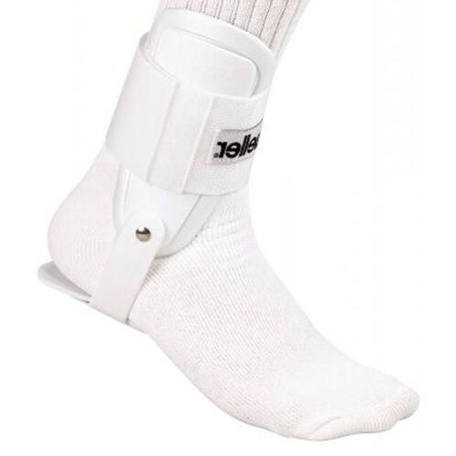 new white lite active ankle brace hinged