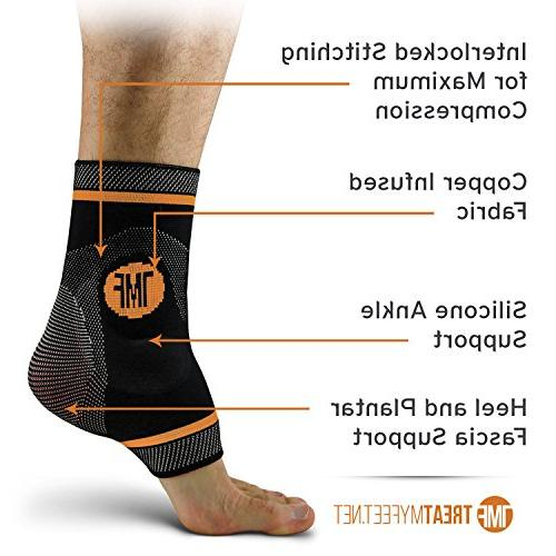 Ankle Silicone Ankle Anti-Microbial Foot, Relief. and Ankle - L