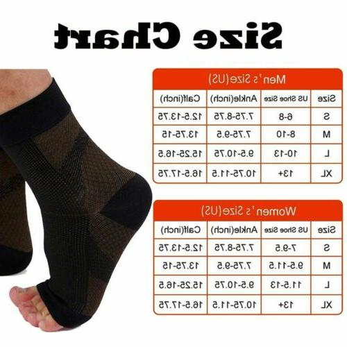 Pairs Magnetic Copper Relief Ankle Support Brace Foot Sleeve