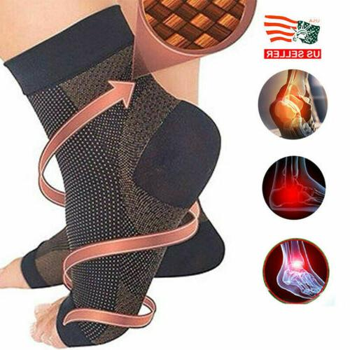 pairs magnetic copper compression relief ankle support