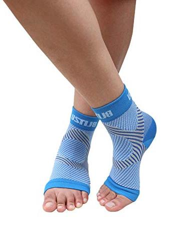Plantar with Arch Foot Care Compression & Heel Ankle Brace Relieve Fast Blue